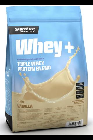 SportLife Nutrition Whey+ 700g vanilja heraproteiinisekoitus