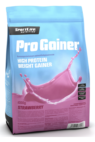 SportLife Nutrition Pro Gainer 1000g mansikka painonlisäysvalmiste