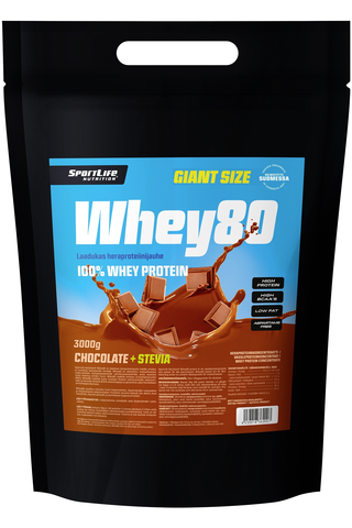 SportLife Nutrition Whey80 3kg suklaa heraproteiinijauhe