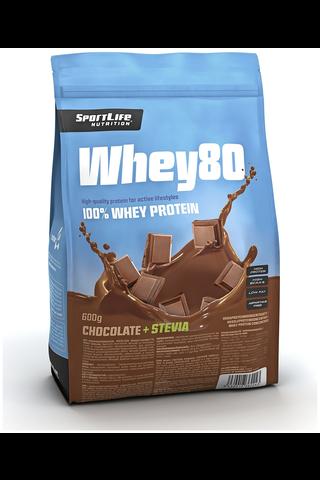 SportLife Nutrition Whey80 600g suklaa heraproteiinijauhe