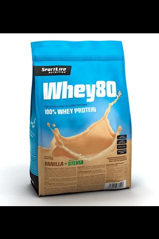SportLife Nutrition Whey80 600g vaniljajäätelö heraproteiinijauhe