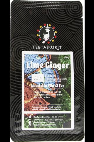 Teetaikurit 100g Lime Ginger luomutee