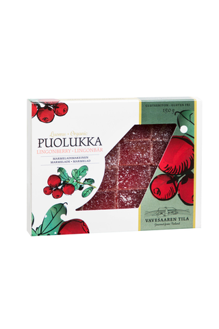 Vavesaaren Tila 150g Luomu Puolukka marmeladimakeinen