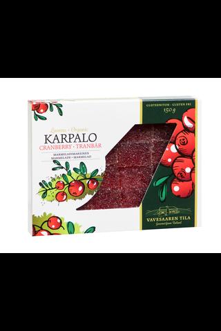 Vavesaaren Tila 150g Luomu Karpalo marmeladimakeinen