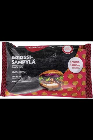 Vuohelan gluteeniton Briossisämpylä kypsäpakaste 4/320g