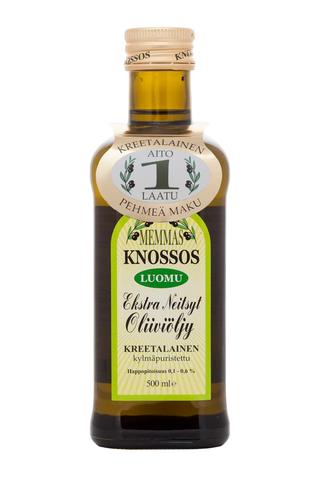 Memmas Knossos 500ml ekstra-neitsytoliiviöljy luomu
