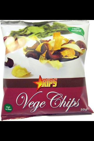 RIPS Vege Chips 50g kasvislastut