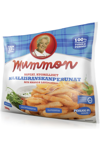 Mummon 750g aidot rapeat maalaisranskanperunat pakaste