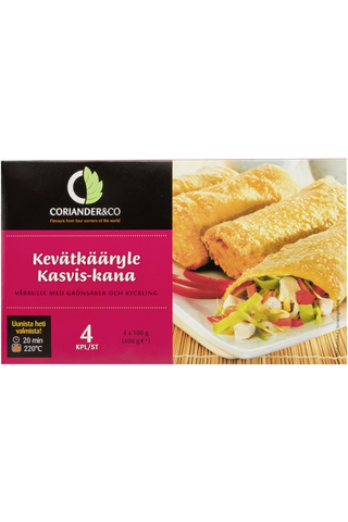 Coriander&Co 4 kpl (400g) Kevätkääryle kasvis-kana