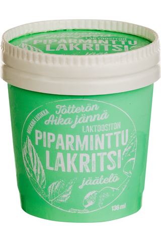 Tötterö 136ml Piparminttu-lakritsijäätelö laktoositon