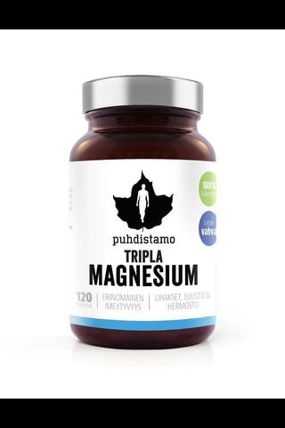Puhdistamo 78g Tripla Magnesium lisäravinne 120kaps