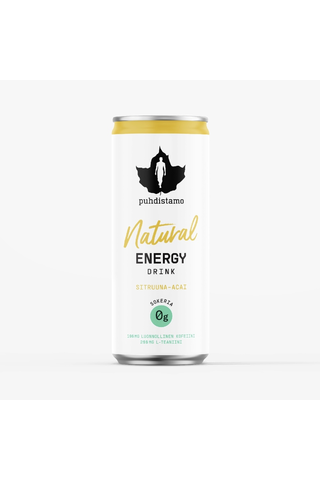 Puhdistamo Natural Energy Drink Sitruuna-Acai 330ml