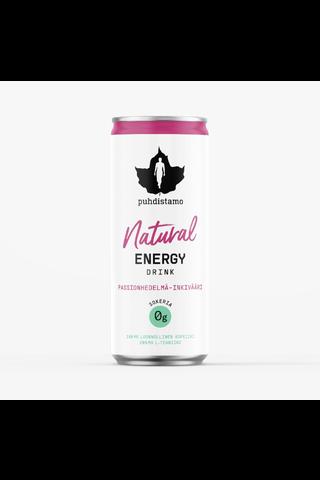 Puhdistamo Natural Energy Drink Passionhedelmä - Inkivääri 330ml