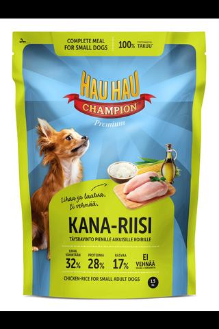 Hau-Hau Champion Kana-riisi täysravinto pienille koirille 1,5kg