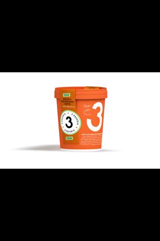 3 Kaverin 500ml jäätelö suklaa & pähkinäkinuski vegaaninen