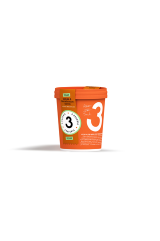 3 Kaverin jäätelö 500ml Suklaa&Pähkinäkinuski100%Vegan