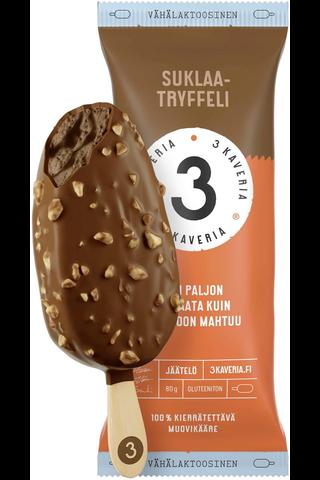 3 Kaverin Jäätelö Jäätelöpuikko Suklaatryffeli 80g
