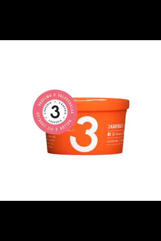 3 Kaverin Jäätelö 170ml vadelma-valkosuklaajäätelö
