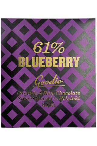 Goodio Blueberry 61% Luomu raakasuklaa 48 g