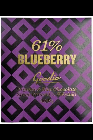 Goodio Blueberry 61% Luomu raakasuklaa 48 g