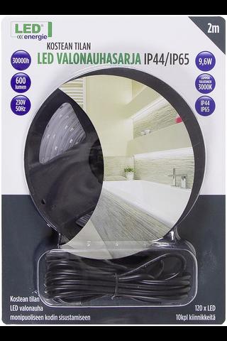 Led Energie valonauhasarja 2m IP44/IP65 lämmin valkoinen