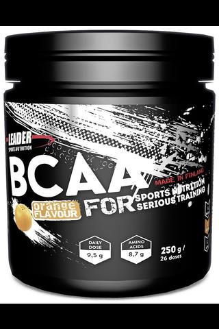 Leader Sports Nutrition ravintolisä BCAA aminohappojuomajauhe appelsiini 250 g
