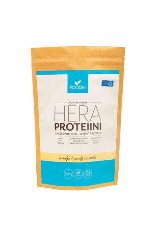 Foodin 650g heraproteiini vanilja luomu
