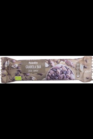 Foodin cacao crunchluomugranola bar 40g