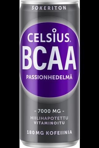 Celsius 330ml BCAA virkistysjuoma passionhedelmä