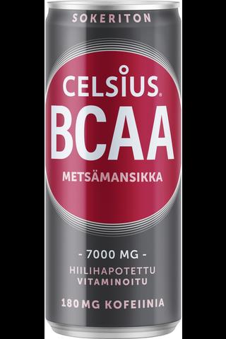 Celsius BCAA 330 ml virkistysjuoma metsämansikka
