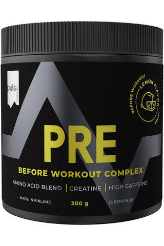 Puls 300g Pre workout aminohappojuomajauhe sitruuna