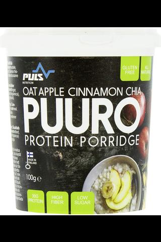 Puls Proteiinipuuro 100 g Omenan ja kanelin makuinen proteiinipuuro