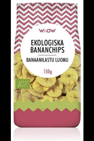WAOW 150g banaanilastu luomu