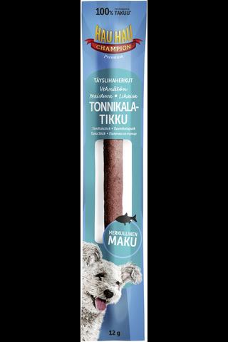 Hau-Hau Champion 12g täyslihaherkut tonnikalatikku koiralle