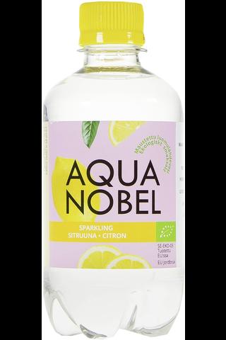 Aqua Nobel 330ml Luomu Sitruuna maustettu hiilihapollinen lähdevesi