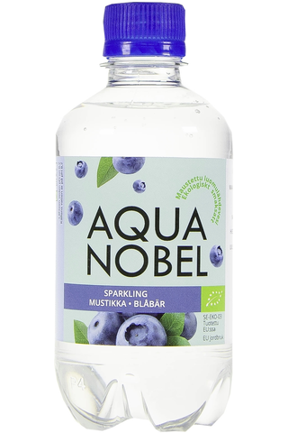 Aqua Nobel 330ml Luomu Mustikka maustettu hiilihapollinen lähdevesi