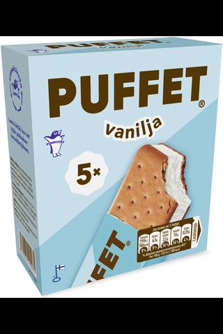 Puffet 5x62g/1,1dl Vanilja välipalajäätelö monipakkaus