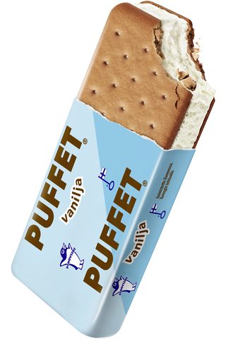Puffet 62g/1,1dl Vanilja välipalajäätelö