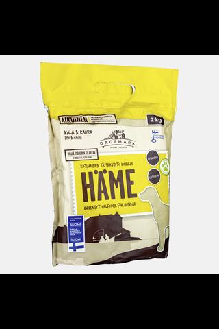 Kotimainen Dagsmark koiran kuivaruoka HÄME 2kg