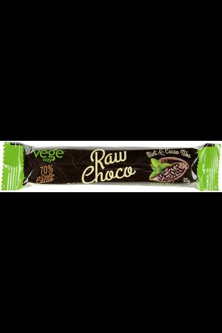 Vegeway raw choco raakatummasuklaapatukka mintunmakuinen 35 g