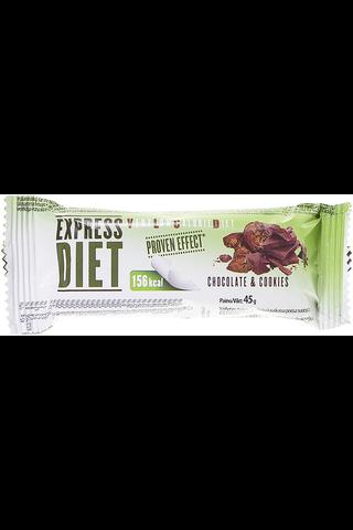 Express Diet patukka suklaakeksin makuinen 45 g