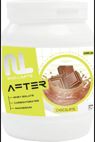 Leader No limits after proteiini-hiilihydraattijuomajauhe suklaanmakuinen 600 g