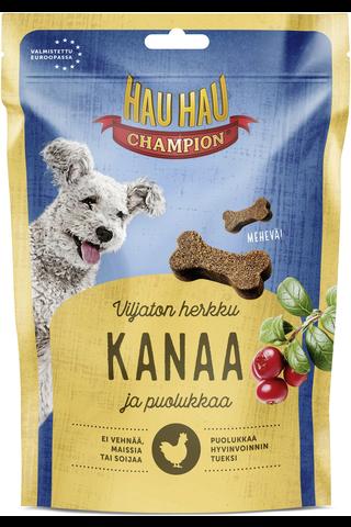 Hau-Hau Champion Kanaa ja puolukkaa viljaton  pehmeä 200g