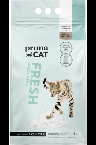 PrimaCat Fresh Unscented kissanhiekka valkoinen 5 l