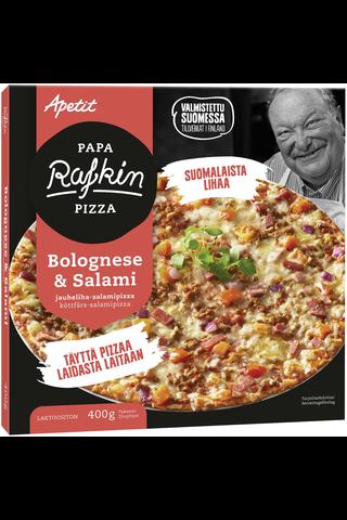 Papa Rafkin Bolognese&Salami jauheliha-salamipizza pakaste 400g