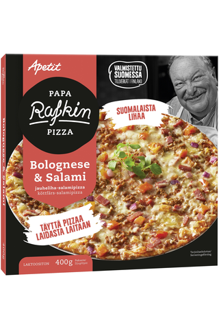 Papa Rafkin 400g Bolognese&Salami Jauheliha-salamipizza Pakaste