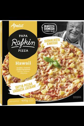 Papa Rafkin 400g Hawaii Kinkku-ananas-katkarapupizza Pakaste