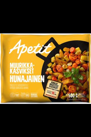 Apetit Muurikka-kasvikset Hunajainen maustettu kasvissekoitus pakaste 500g