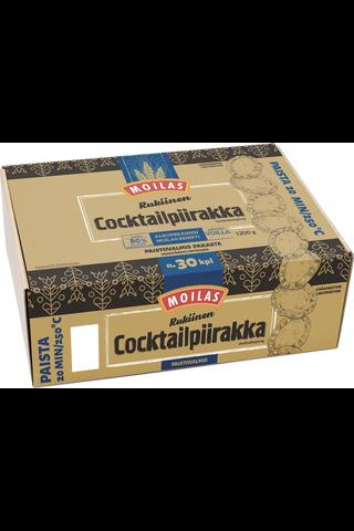 Moilas 1200g Rukiinen cocktailriisipiirakka noin 30kpl paistovalmis pakaste