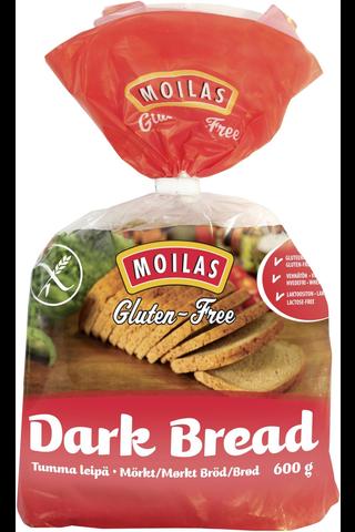 Moilas Gluteeniton Tumma leipä 600g viipaloitu pakaste